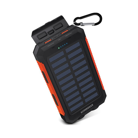 Hypergear 10,000 mAh Solar Powered Power Bank | Travel Accessories