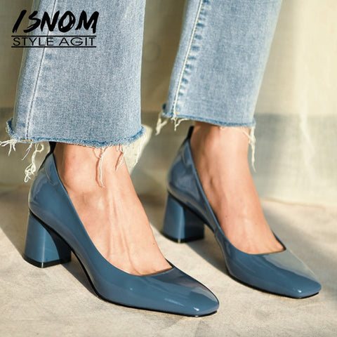 Genuine Leather Pumps Women