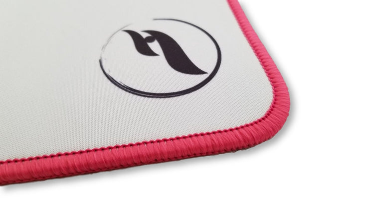 ZeroGravity Large Gaming Mouse Pad/Mat - White/Pink