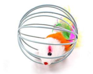 Interactive Cat Feather Ball Toy