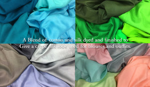 Cotton Silk Crepe
