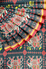 Load image into Gallery viewer, Black Printed Chanderi Cotton 44""