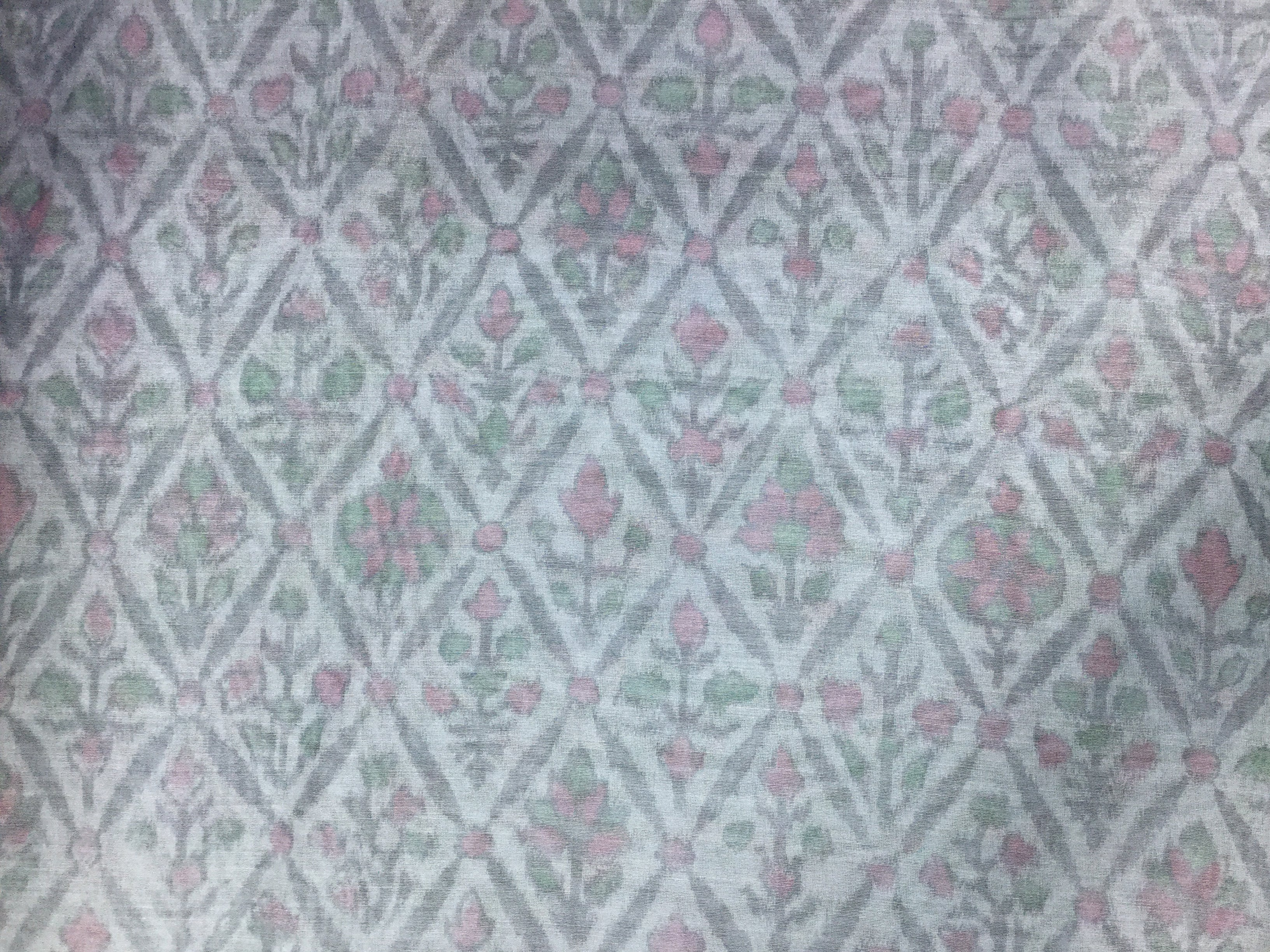 Grey Printed Chanderi 44""