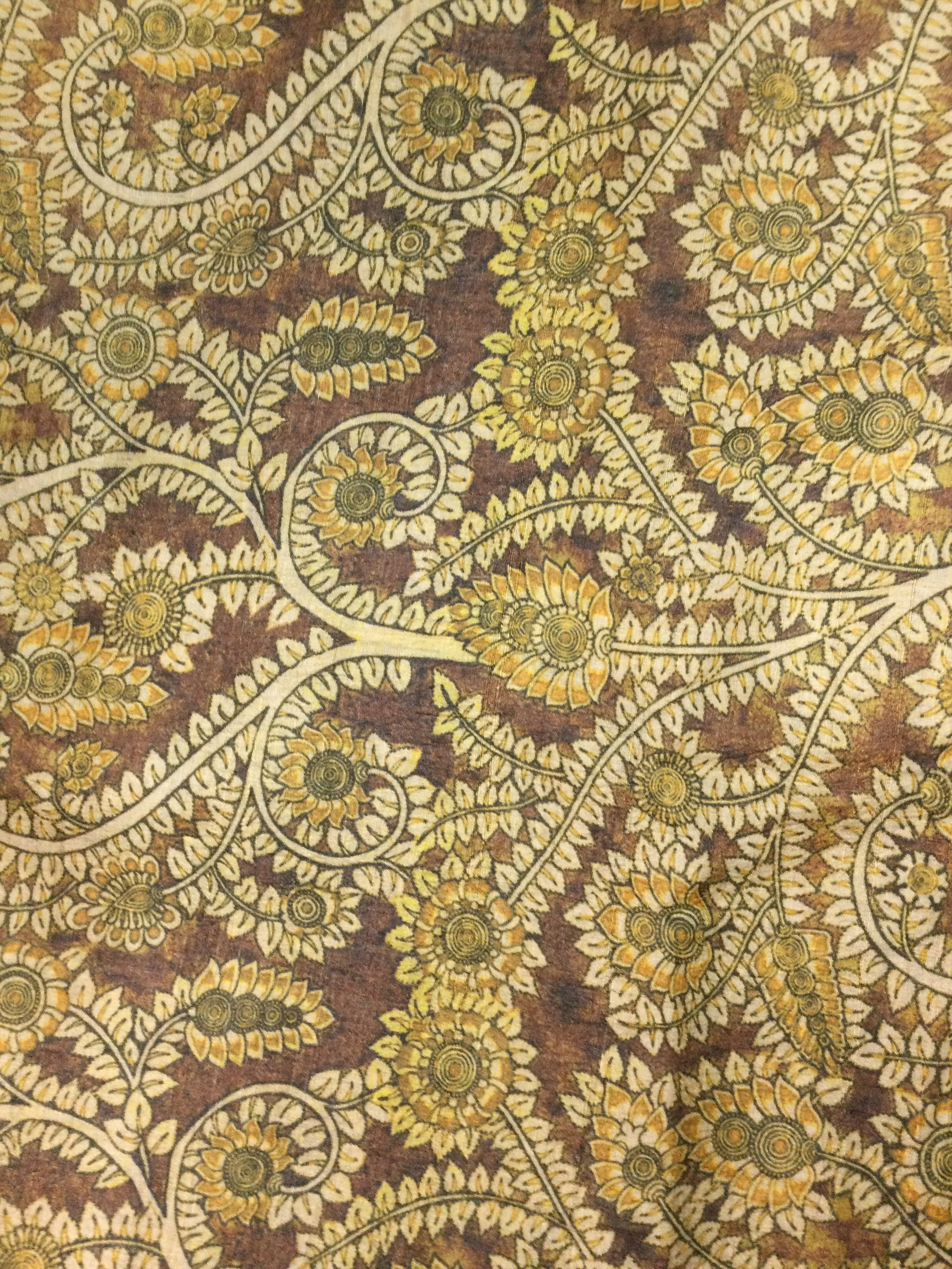 Brown Printed Tussar
