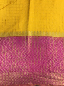 Yellow Chanderi Silk