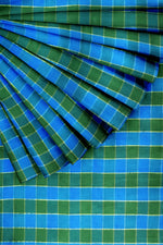 Load image into Gallery viewer, Blue & Green Pure Silk 44""