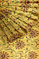 Load image into Gallery viewer, Mustard Yellow Printed Linen 56""