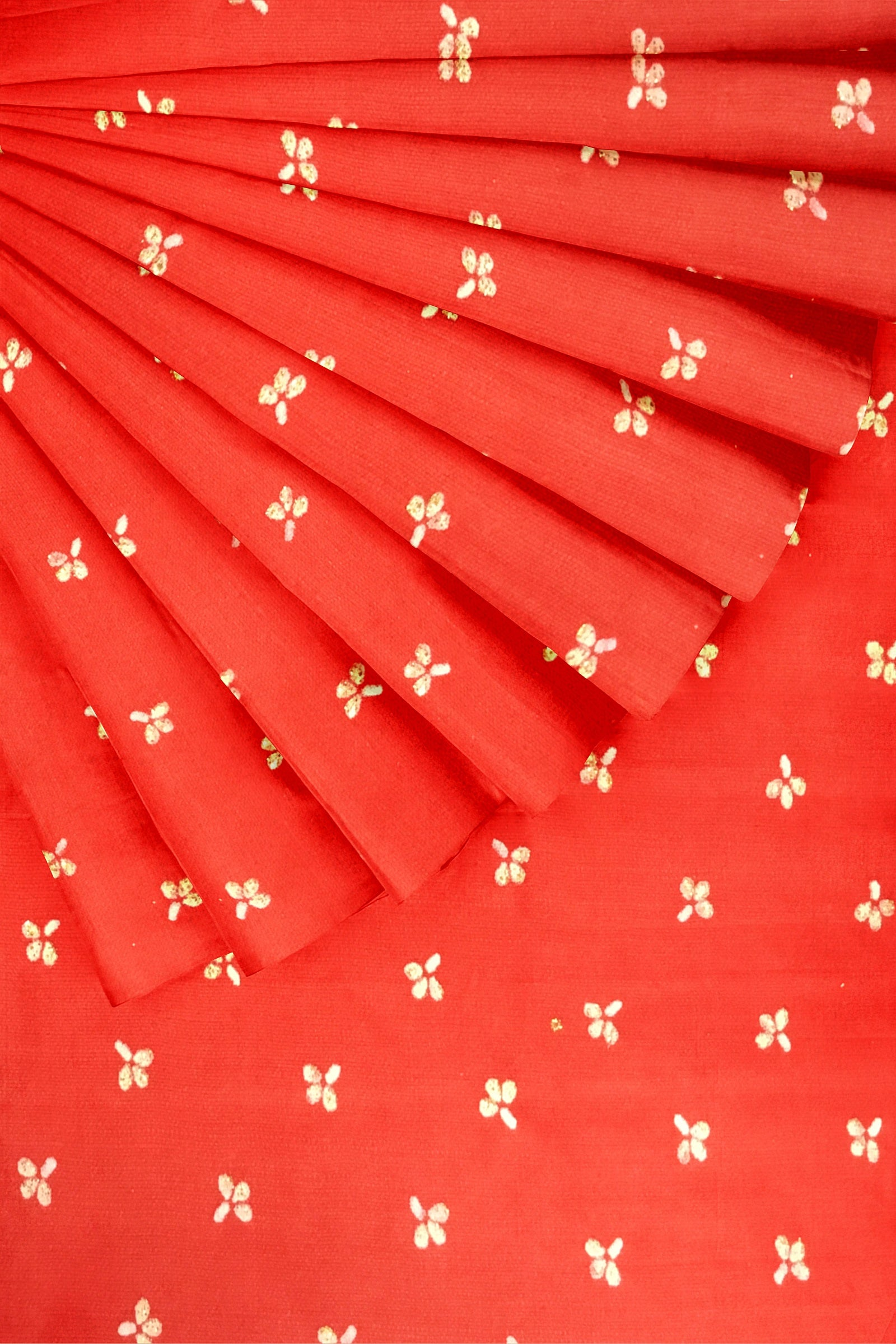 Red Cotton Satin 44""