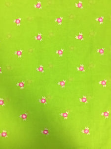 Green Cotton Embroidery 44""