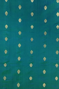 Green Pure Silk Zari Butti