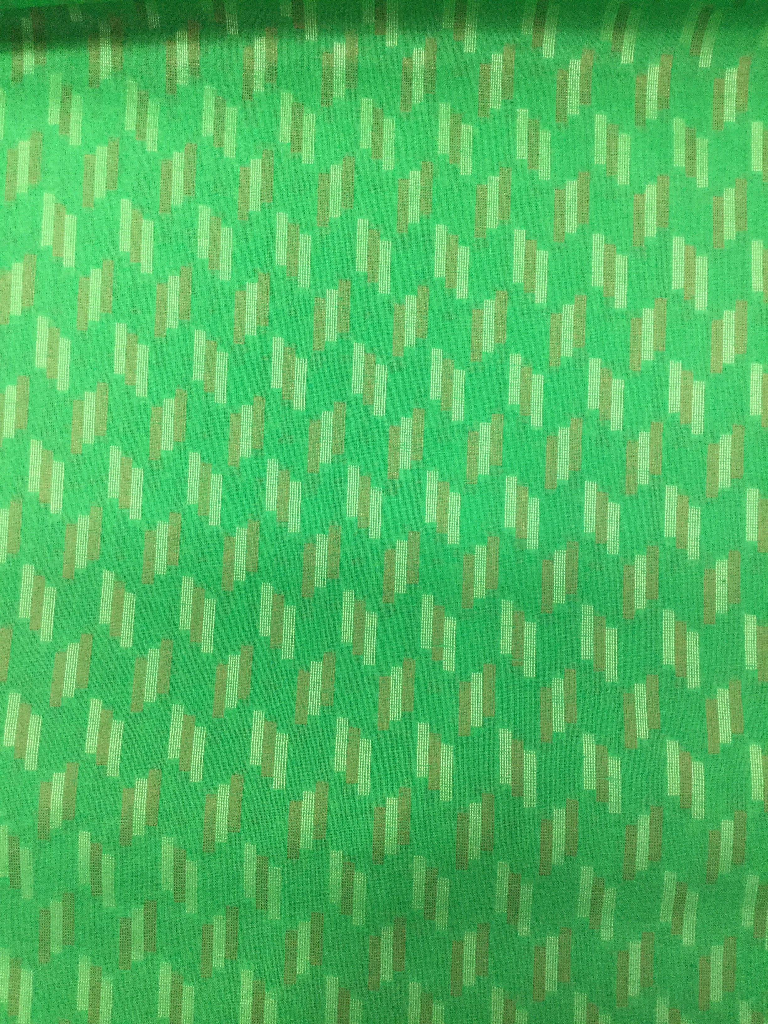 Green Woven Two By Two 35""