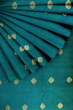 Load image into Gallery viewer, Green Pure Silk Zari Butti