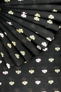 Black Cotton Embroidery 44""