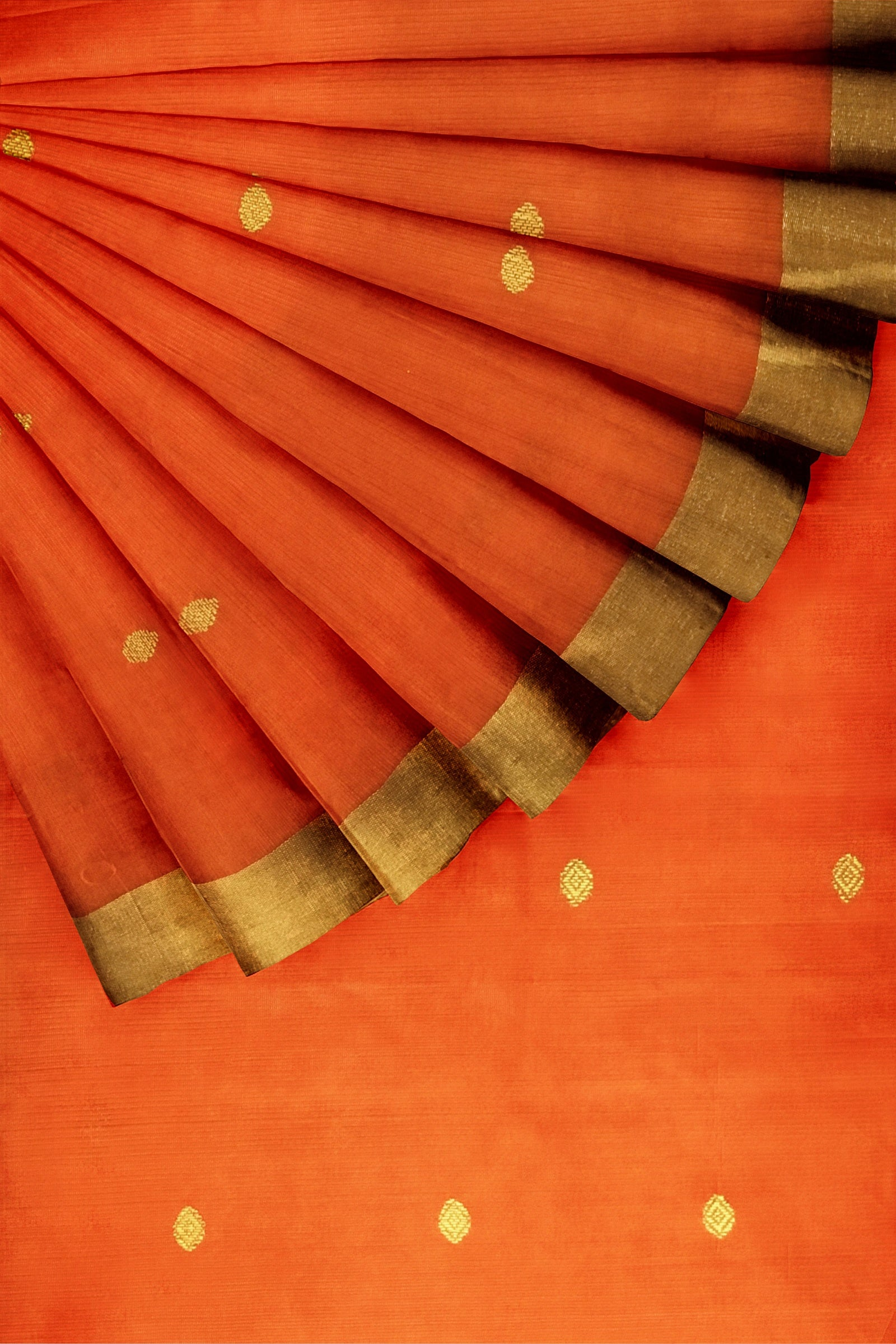 Orange Chanderi Banarasi 44""