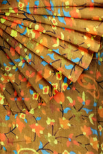 Load image into Gallery viewer, Mustard Printed Chanderi 44""