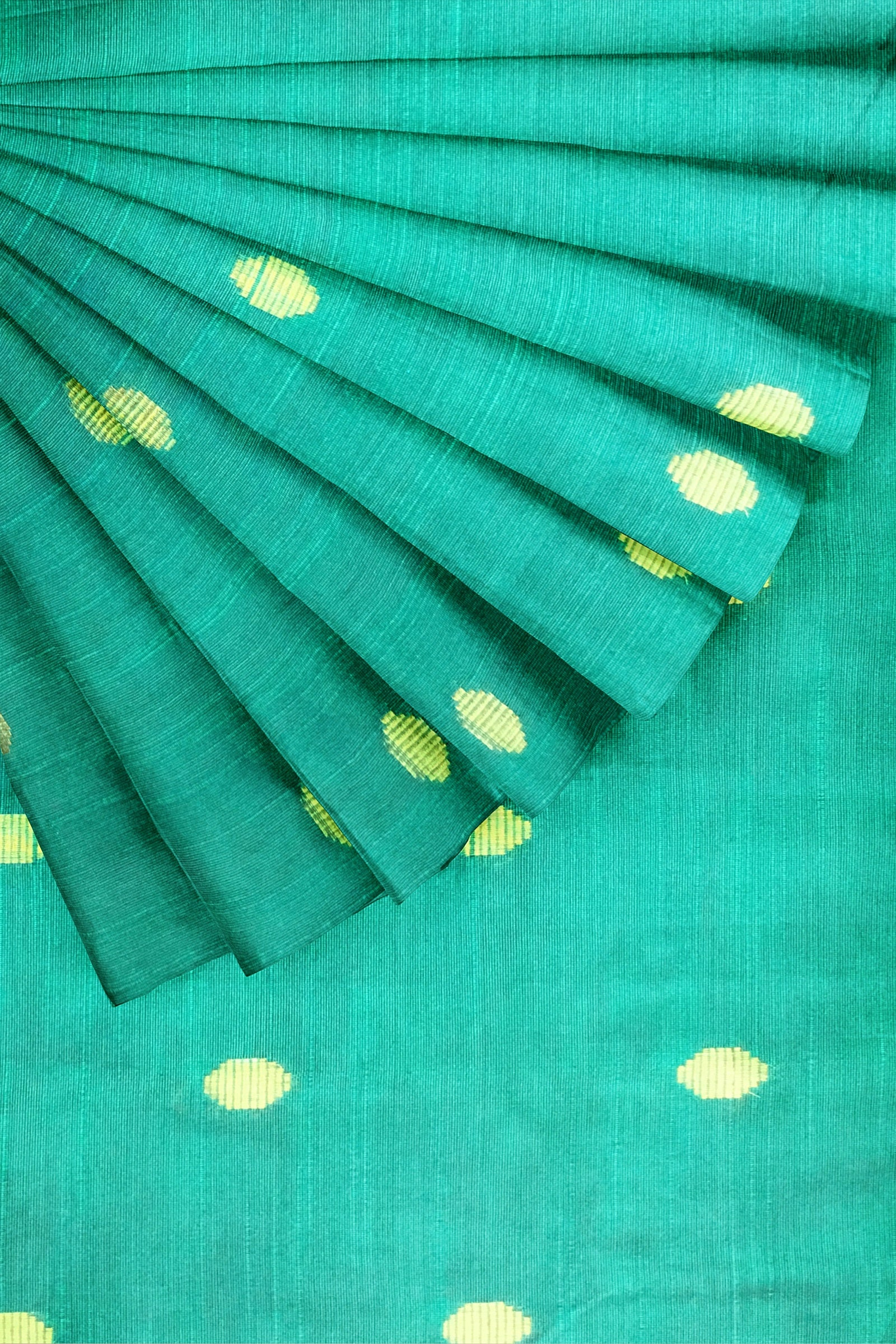 Sea Green Woven Semi Silk 44""
