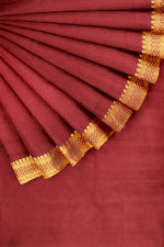 Load image into Gallery viewer, Maroon Mangalgiri Cotton 44""