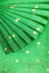 Light Green Woven Semi Silk 44""