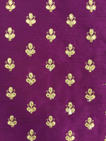 Load image into Gallery viewer, Purple Embroidered Raw Silk 44""
