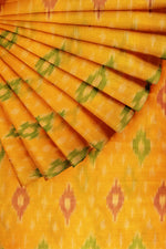 Load image into Gallery viewer, Yellow Ikkat Cotton Silk 44""