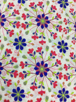 Load image into Gallery viewer, White Floral Embroidered Chanderi