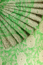 Load image into Gallery viewer, Green Embroidered Silk