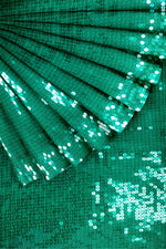 Load image into Gallery viewer, Green Sequins on Georgette