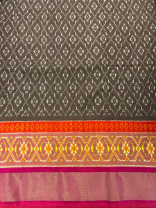 Brown Ikkat Pure Silk 44""