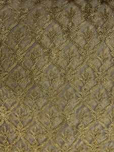 Beige Net with Zari Work
