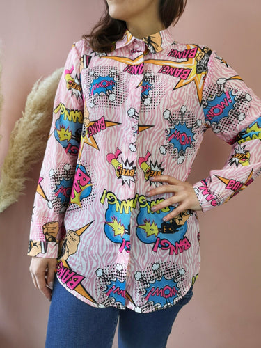 Camicia Fantasia Pop Art Taglia Unica