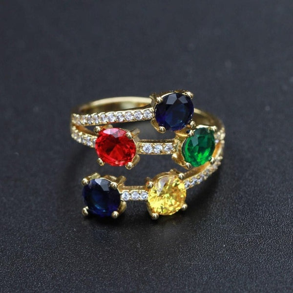 Bright Light Gem Rings