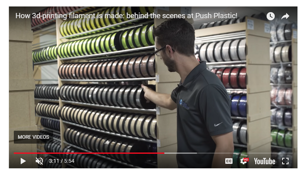 How 3d-printing filament is made: behind the scenes at Push Plastic!