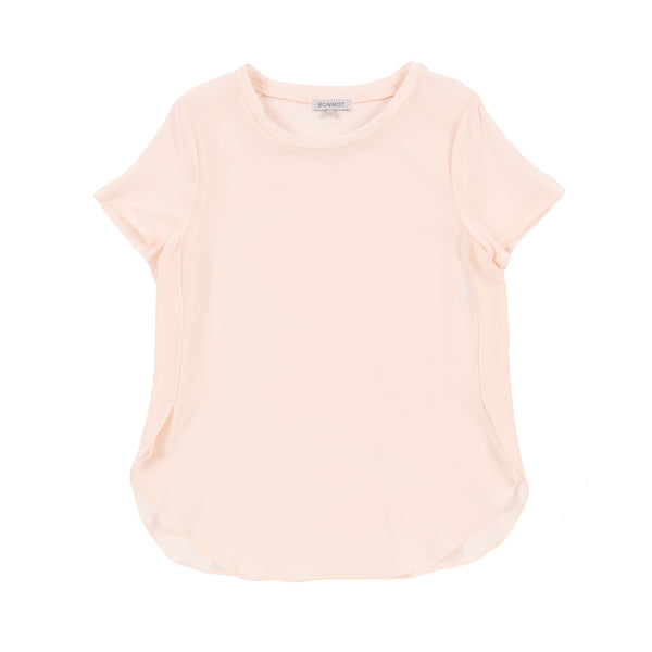 Beatrice Tee, Pale Blush