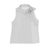 Wrap T-Neck, Dobby Silk