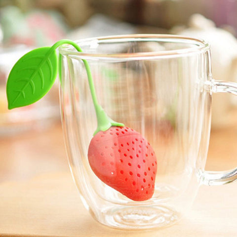 Infuseur Thé SILICONE Fraise