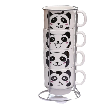Mug Panda Empilables x4