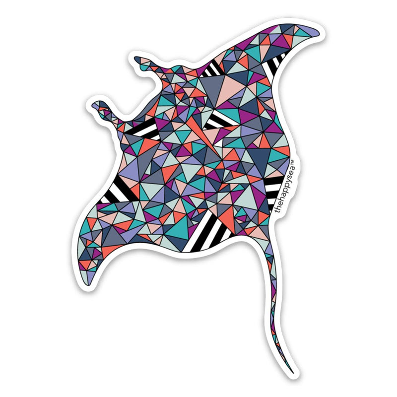 Manta Ray Vinyl Sticker