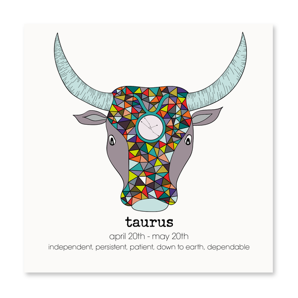 Taurus - Greeting Card