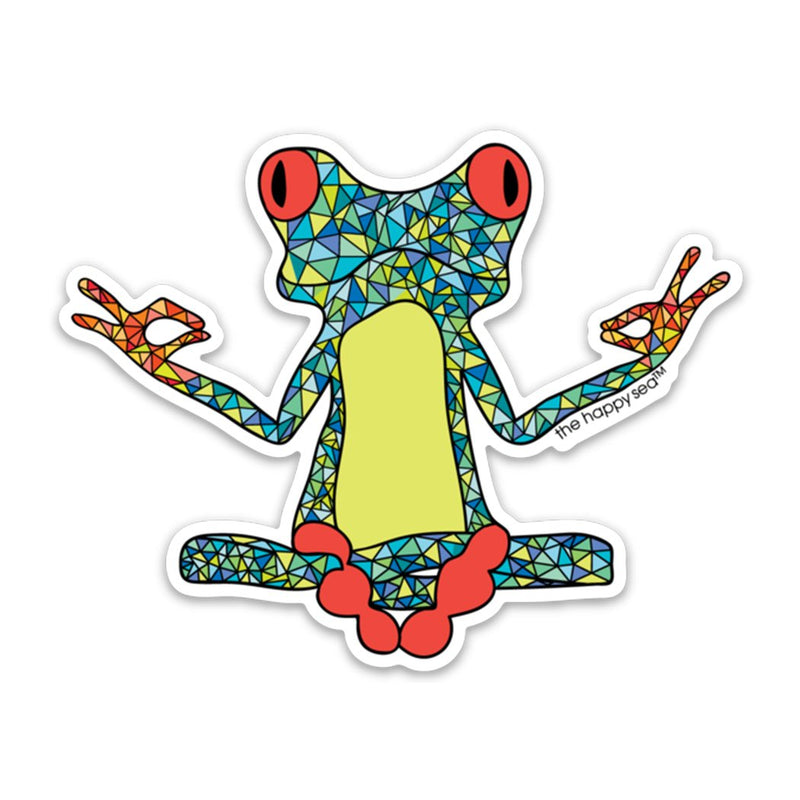 Yoga Frog Vinyl Sticker