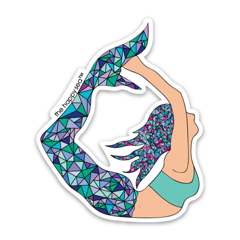 Yoga Mermaid Vinyl Sticker