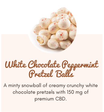 White Chocolate Peppermint Pretzel Balls 2 for