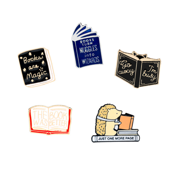 Book Lovers Pins