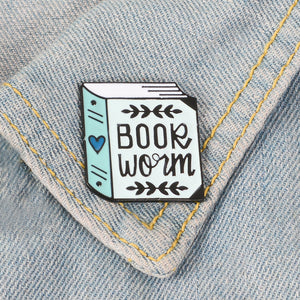 Book Worm Pin