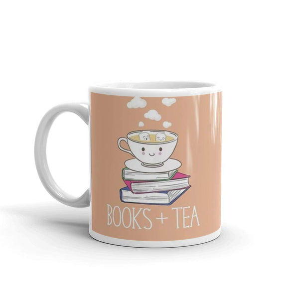 Books + Tea Mug
