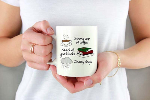 Coffee, Books & Rain Coffee Mug