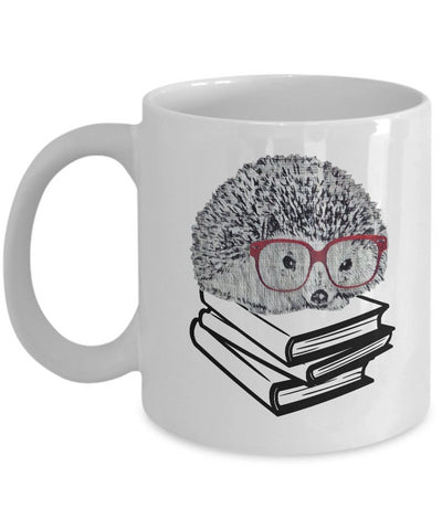 Hedgehog Mug Book Nerd Mug