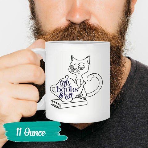 Cat Book & Tea Mug