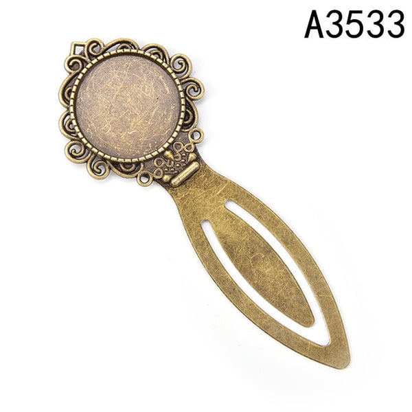 20MM Inner Size Antique Bronze Plated Vintage Style Diy Bookmark