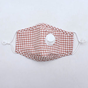 Fashion Check Cotton Mask with PM2.5 Filter (Assorted)