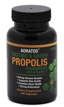 Load image into Gallery viewer, Aoratos Nature's Green Propolis Proimmune with Artepillin C 120 count 500mg Vegetable Capsules